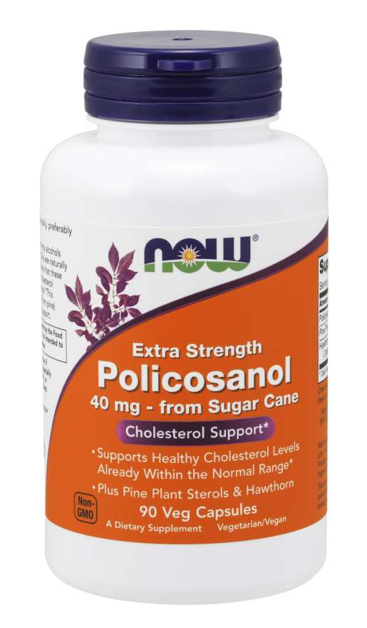 Policosanol, Extra Strength 40 mg Veg Capsules | Cholesterol Support*