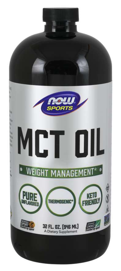 NOW Sports MCT 100% Oil, Weight Management* 32 Fl Oz