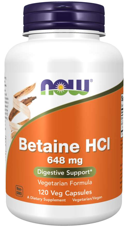 Betaine HCl 648 mg Veg Capsules | Digestive Support*