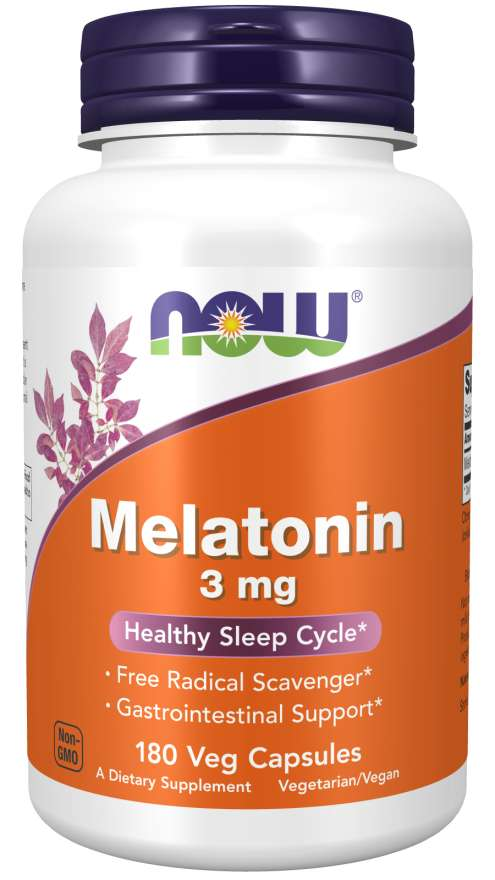 Melatonin 3 mg Veg Capsules | Healthy Sleep Cycle*