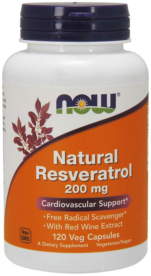 Natural Resveratrol 200 mg Veg Capsules | Cardiovascular Support*