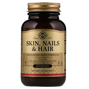 Solgar Skin, Nails, and Hair Advanced MSM Formula 60+20 Bonus Tablets