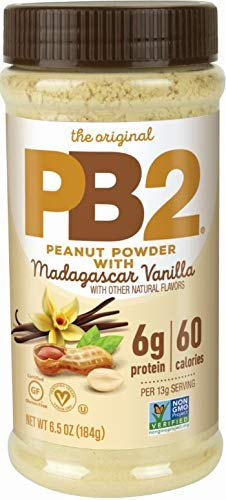 PB2 Vanilla Peanut Butter Powder - With Madagascar Vanilla, The Original Powered Peanut Butter, 6.5 oz