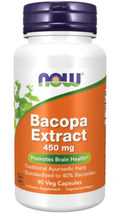 Bacopa Extract 450 mg Veg Capsules | Promotes Brain Health