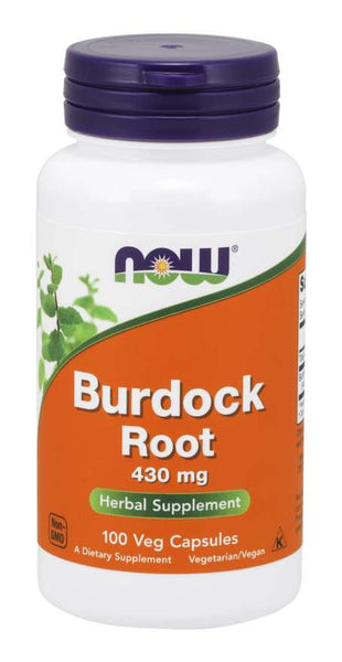 NOW Supplements, Burdock Root (Arctium lappa) 430 mg, Herbal Supplement, 100 Veg Capsules