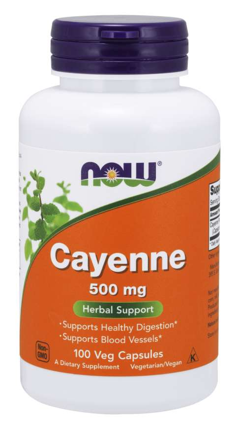 Cayenne 500 mg Veg Capsules | Herbal Support