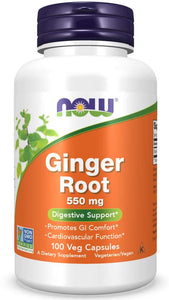 Ginger Root 550 mg Veg Capsules | Digestive Support*