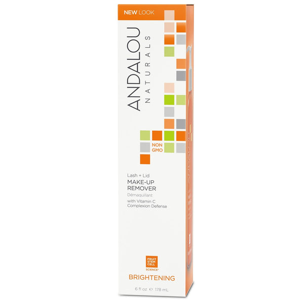 Andalou Naturals Brightening Lash and Lid Make Up Remover - 6 oz