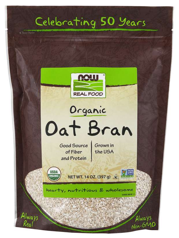 NOW - Oat Bran, Organic | 14 oz