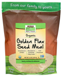 NOW - Golden Flax Seed Meal, Organic | 22 oz