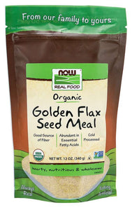 NOW - Golden Flax Seed Meal, Organic | 12 oz