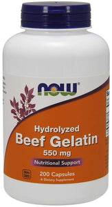Beef Gelatin 550 mg Capsules | Nutritional Support