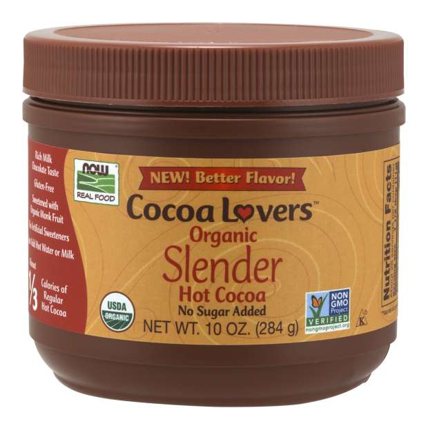 Cocoa Lovers™ Slender Hot Cocoa, Organic | About 1/3 Calories of Regular Hot Cocoa