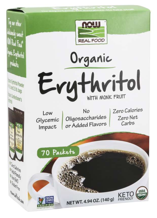 Erythritol with Monk Fruit, Organic | Packets With Monk Fruit