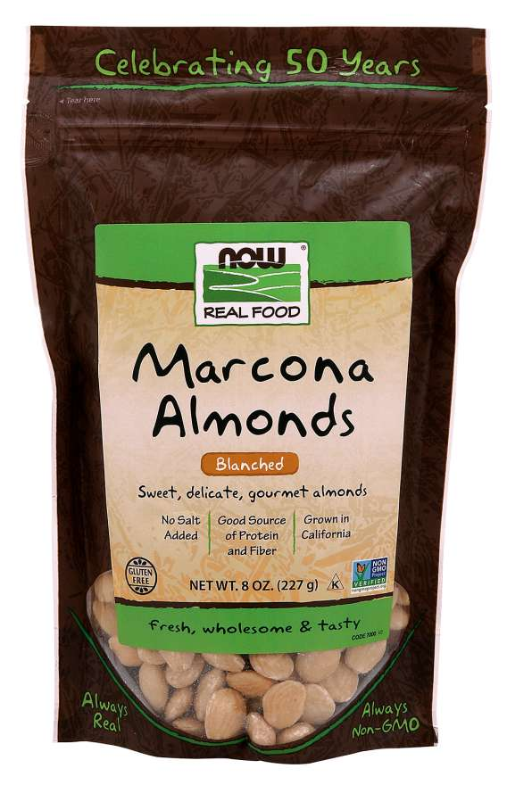 NOW - Marcona Almonds, Blanched | 8 oz