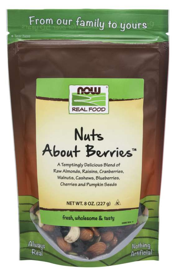 Nuts About Berries™ | A Temptingly Delicious Blend of Raw Almonds, Raisins, Cranberries, Walnuts, Cashews, Blueberries, Cherries and Pumpkin Seeds