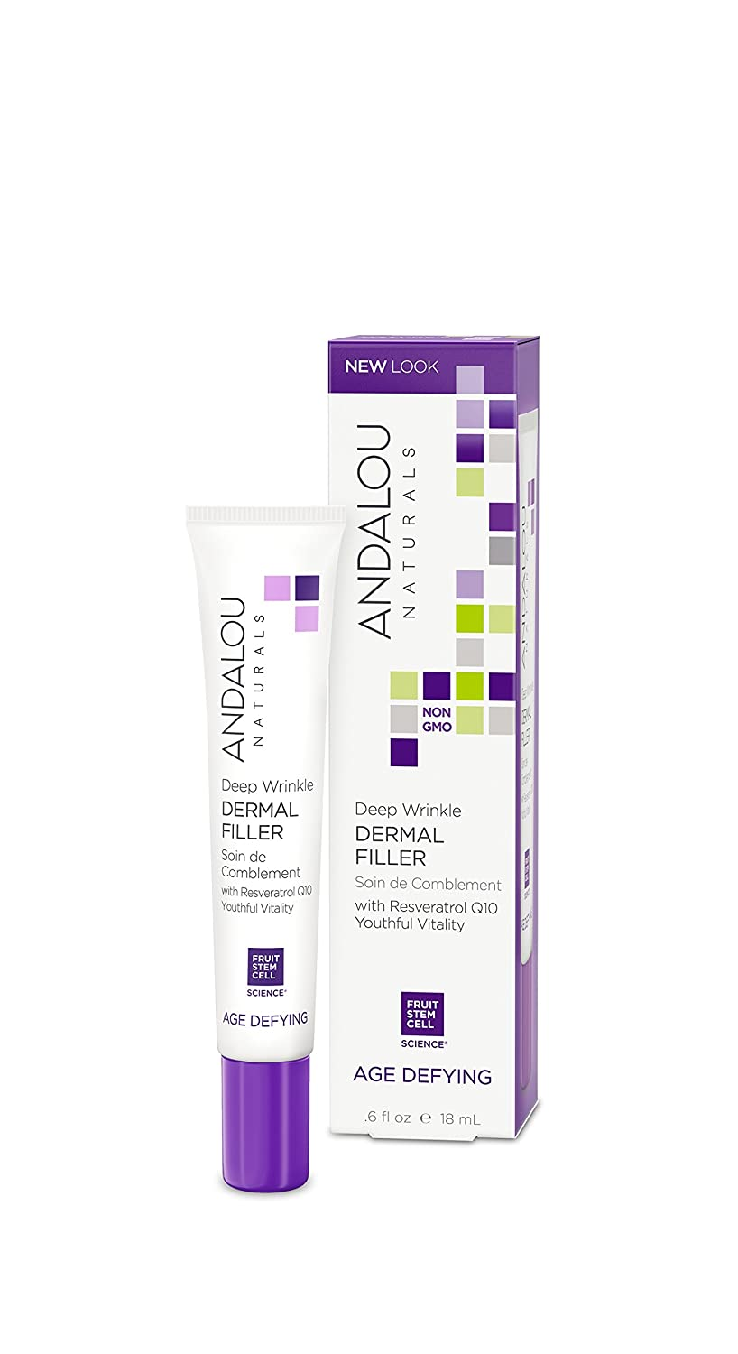 Andalou Naturals Deep Wrinkle Dermal Filler, Aloe Vera, 0.6 Fl Oz