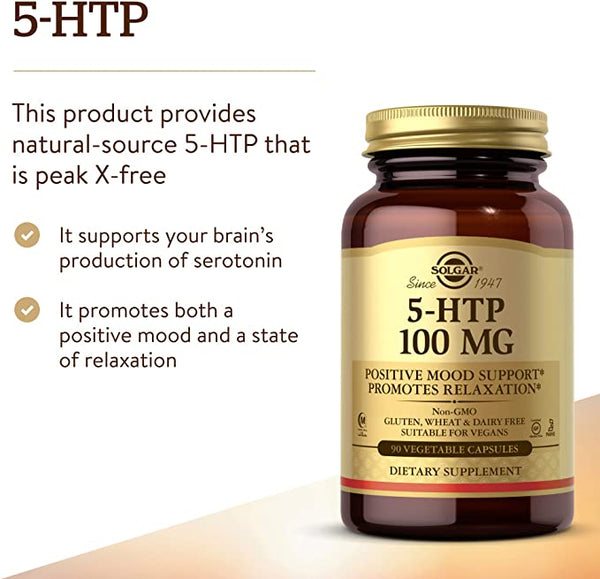 Solgar, 5-HTP 100 mg, 90 Vegetable Capsules