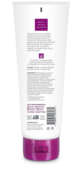 Andalou Naturals CannaCell Body Lotion, RITUAL, 8 Fl Oz