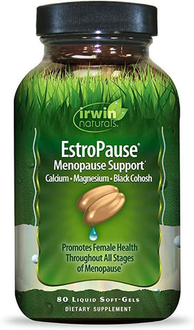 Irwin Naturals EstroPause Menopause & Women's Health Support Supplement - 80 Liquid Softgels - Discount Nutrition Store