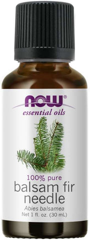 NOW Essential Oils, Balsam Fir Needle Oil, Woodsy Aromatherapy Scent, Steam Distilled, 100% Pure, Vegan, 1-Ounce