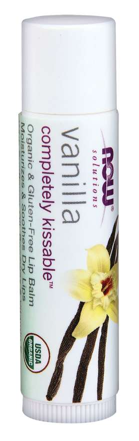 NOW - Vanilla Lip Balm - .15 ozCompletely Kissable™ Vanilla Lip Balm | Organic & Gluten-Free Lip Balm