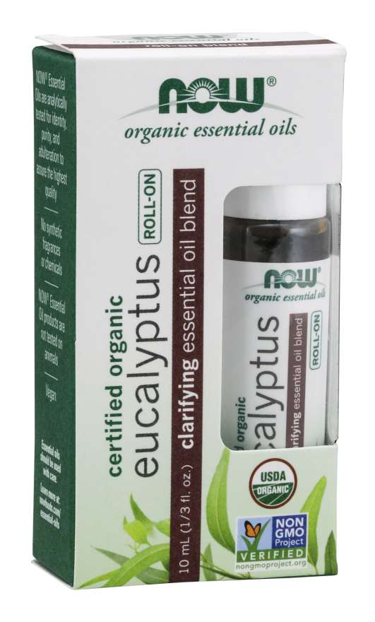 Eucalyptus Essential Oil Blend, Organic Roll-On Clarifying | Essential Oil Blend