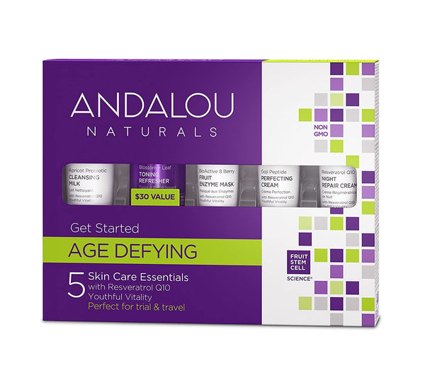 Andalou Naturals Age Defying Get Started Kit 5 Piece Set