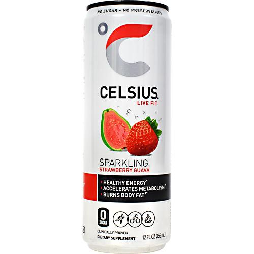 Celsius Strawberry Guava Sparkling Energy Drink 12 Fl Oz