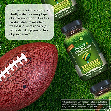 Irwin Naturals Turmeric After-Sport Post-Workout Recovery with Boswellia & Magnesium - 60 Liquid Softgels