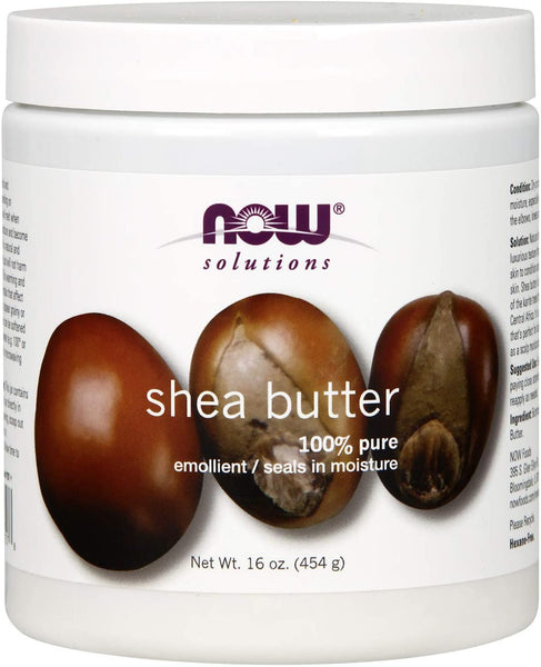 Shea Butter, Skin Emollient, Seals in Moisture for Dry Rough Skin, 16-Ounce
