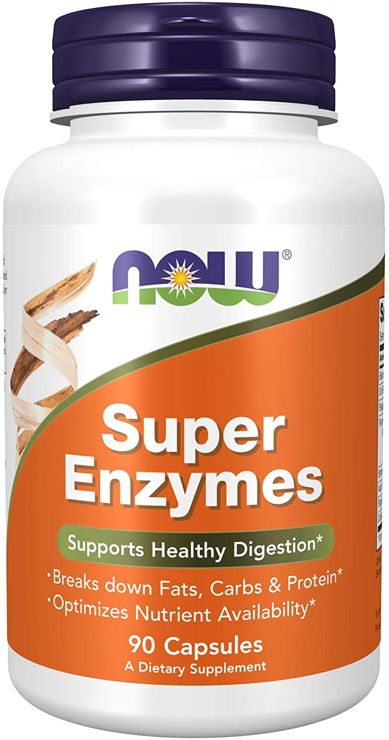 Super Enzymes, Formulated with Bromelain, Ox Bile, Pancreatin and Papain, Super Enzymes,90 Capsules
