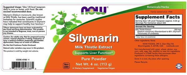 Silymarin Milk Thistle Extract Pure Powder, Supports Liver Function*, 4-Ounce