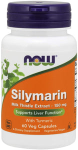 Silymarin Milk Thistle Extract 150 mg with Turmeric, Supports Liver Function*, 60 Veg Capsules