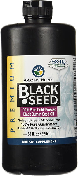 Amazing Herbs Black Seed Cold-Pressed Oil 32oz