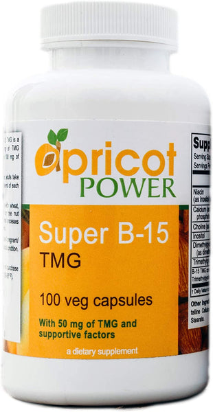 Apricot Power Super B-15 Non Toxic Pangamic Acid - Health Oxygen Levels & Energy - 100 Veg Caps