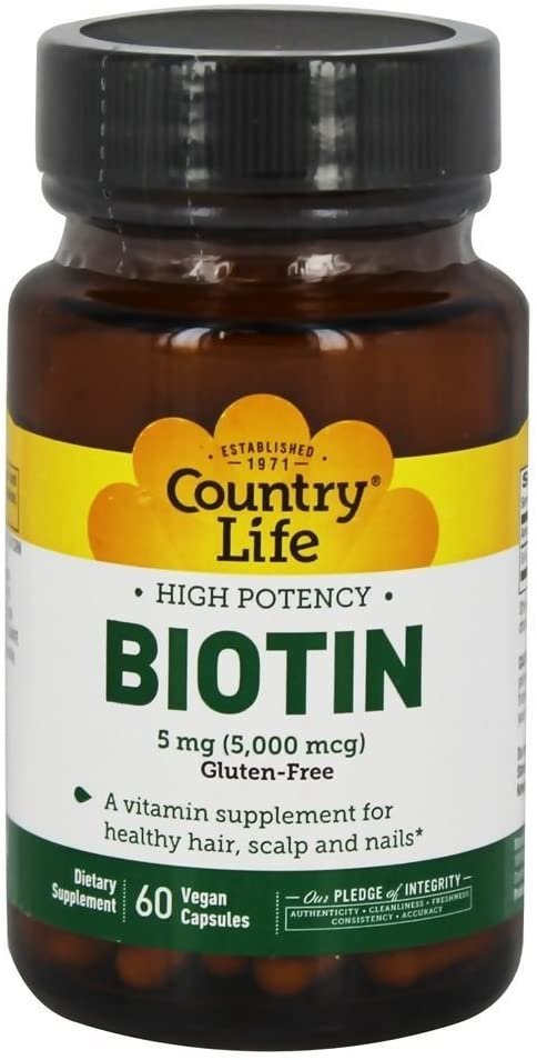 Biotin High Potency, 5 Mg, 60 Count