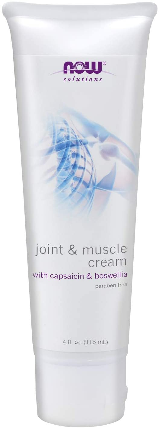 Joint & Muscle Cream with Capsaicin and Boswellia, Paraben Free, 4-Ounce