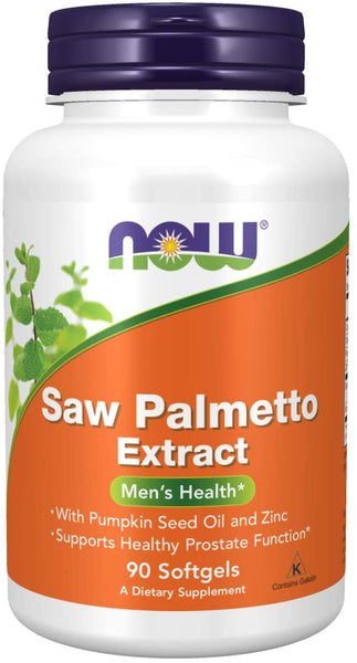 Saw Palmetto Extract with Pumpkin Seed Oil and Zinc, Men's Health*, 90 Softgels