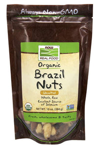 NOW - Brazil Nuts, Organic, Whole, Raw & Unsalted | 10 oz