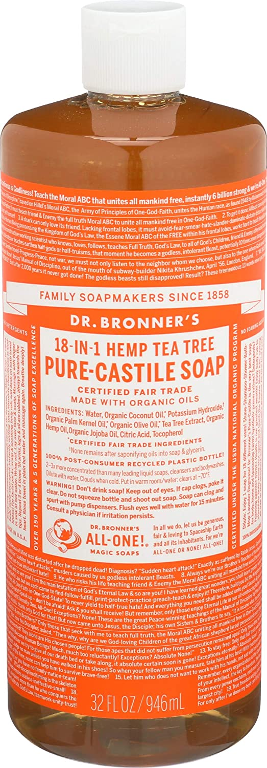 Dr.Bronner's Magic Soaps Pure Castile Soap - Tea Tree - 32 oz