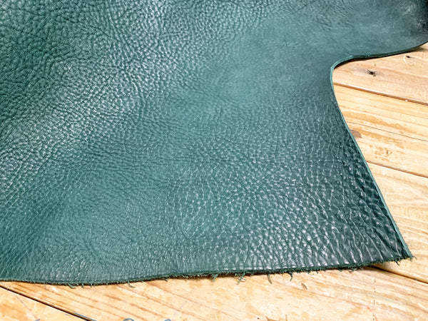 PEACOCK GREEN LEATHER COVER - LeCow