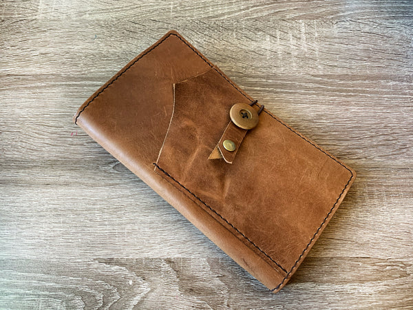 Toffee Leather Cover,Standard Regular Size, Traveler's Notebook Leather Cover, Notebook Cover, Journal Personalized