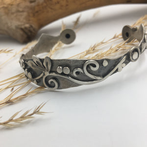 Sterling Filigree Cuff