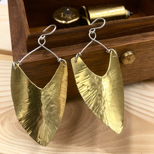 Brass and Sterling Earrings - The Jewelry Shop