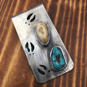 Elk Track Money Clip