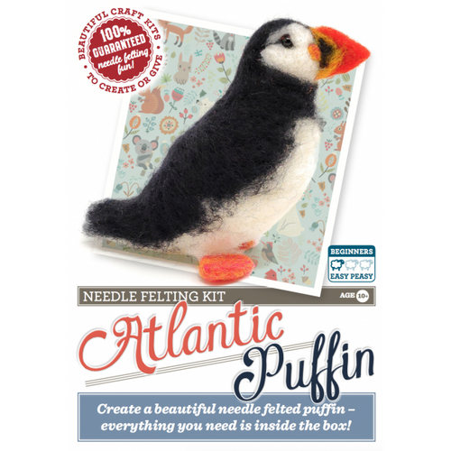 Atlantic Puffin Needle Felting Kit