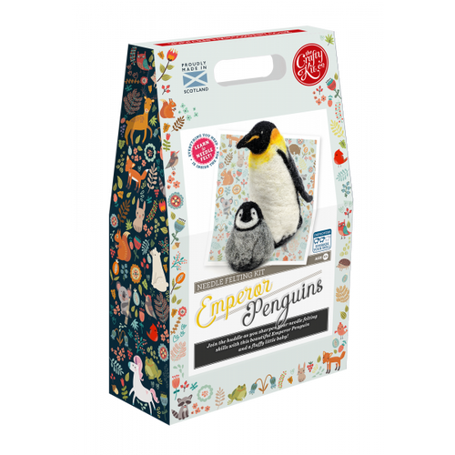 Emperor Penguins Needle Felting Kit