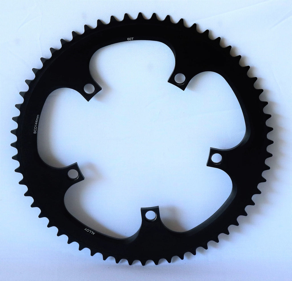 "60 tooth track chainring - 1/2"" x 1/8"" - 144 bcd"