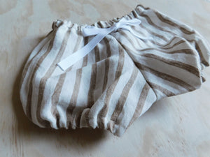 Summer Shorts - Taupe Stripe